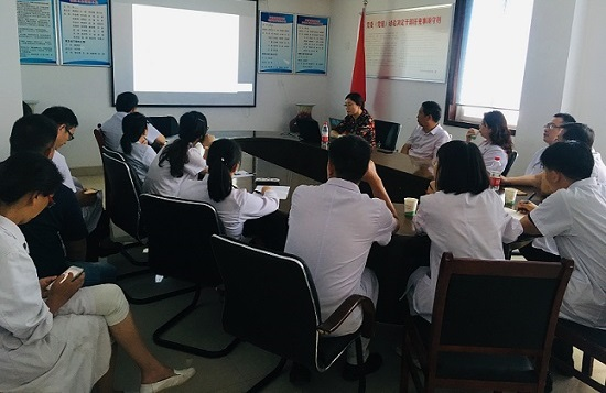 开封市肿瘤医院特请河南大学图书馆信息部王会丽主任来院授课。