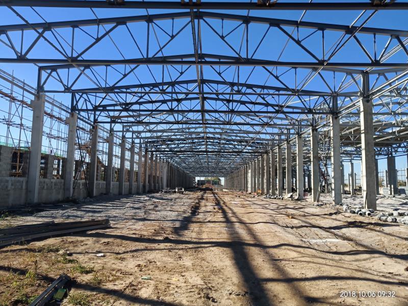 汇鑫钢构彩板建设地铁运用库