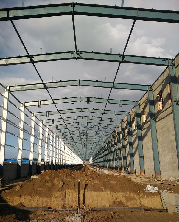 呼和浩特市钢结构合作中铁呼市东站工程