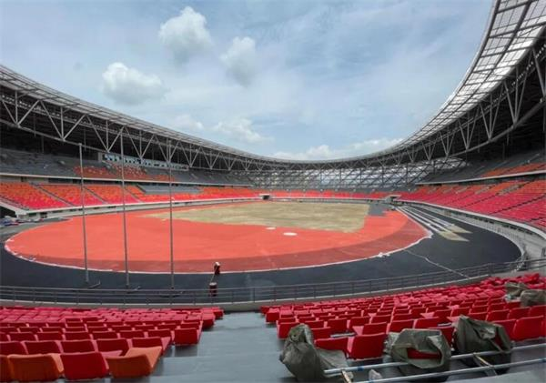 农洽会的主要场馆巴中市体育中心工程已接近尾声