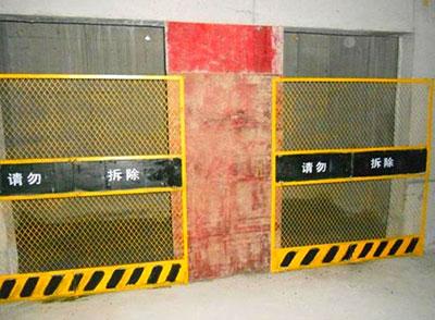 电梯防护网