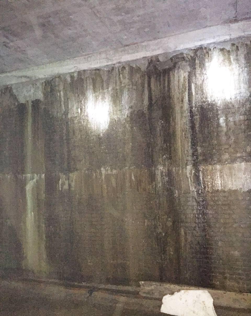 临沂市新城广场地下室砖墙堵漏