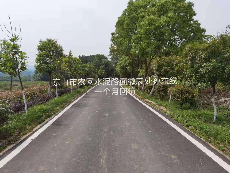 京山市微表处工程一个月回访记录