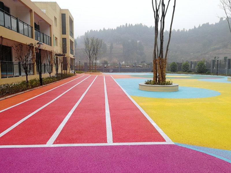 学校彩色路面 防尘耐磨抗压路面施工