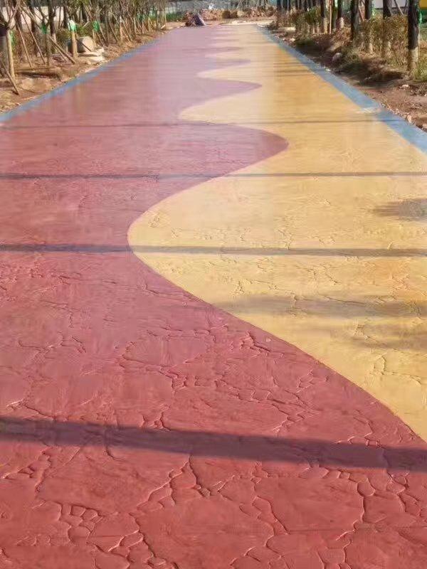 彩色路面压花艺术地坪