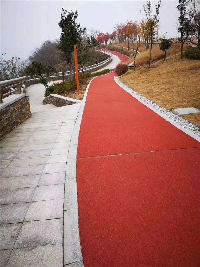 对某公园进行湖北彩色混凝土路面铺设