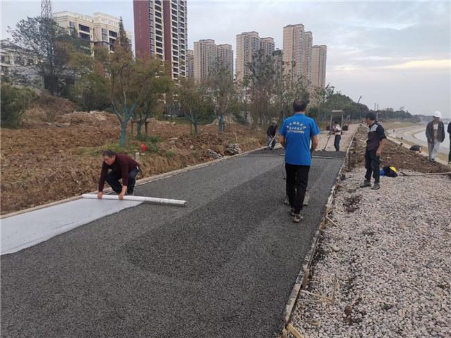 湖北透水混凝土路面施工