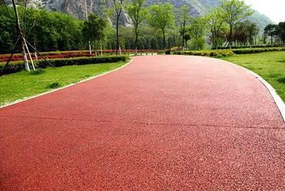 透水混凝土施工厂家彩色透水路面