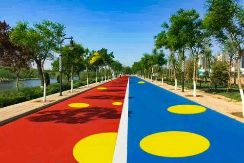 彩色透水混凝土路面施工透水地坪施工厂家