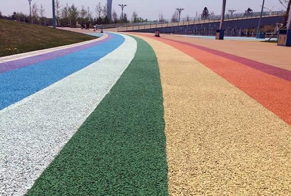 彩色透水混凝土路面施工厂家