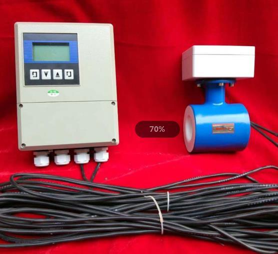 分体式电磁流量计成品展示