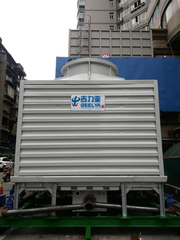 鑫凌·吉力亚冷却塔成都某会所小区冷却塔噪音整改更换施工中