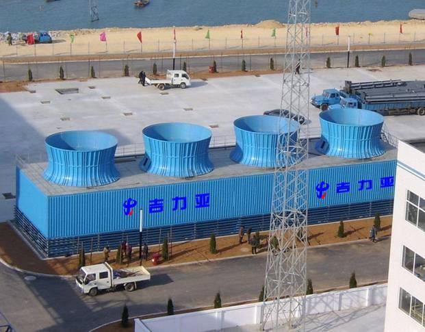 四川冷却塔-逆流开式玻璃钢工业塔
