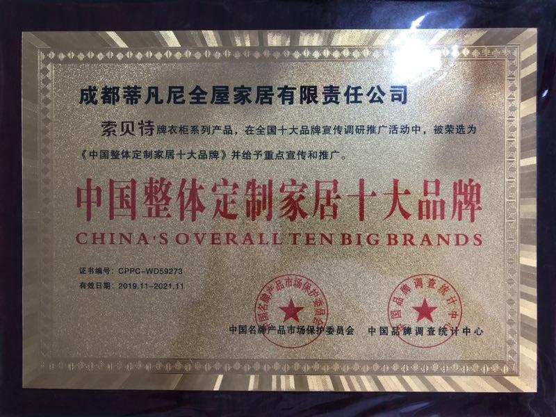 中国整体定制家具十大品牌