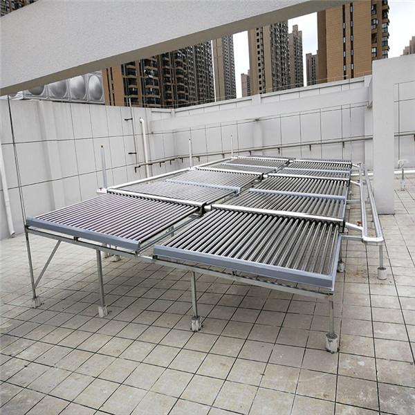 武汉汉阳消防队太阳能空气能结合的热水工程模块热水工程