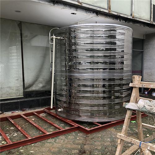武汉紫阳湖宾馆容声空气能水箱+基础安装。