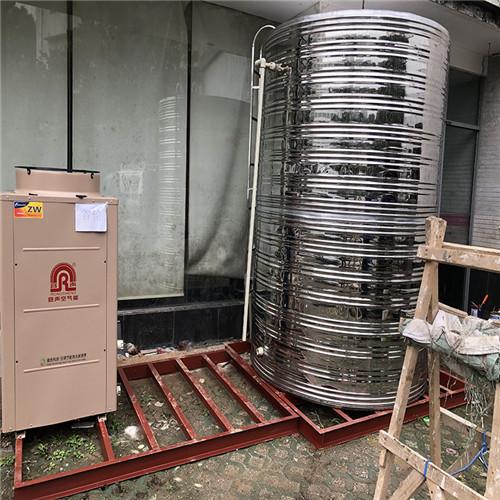 武汉紫阳湖宾馆容声空气能辅材展示。