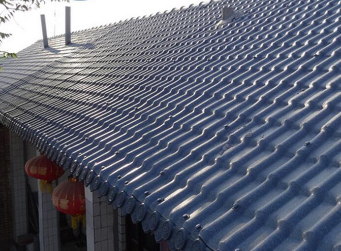 树脂瓦居住屋面安装效果展示