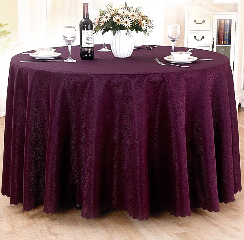 酒店桌布布艺餐厅台布饭店餐桌布欧式大圆桌桌布圆形家用台布批发圆形多种选项 碎花米白 圆3.8m