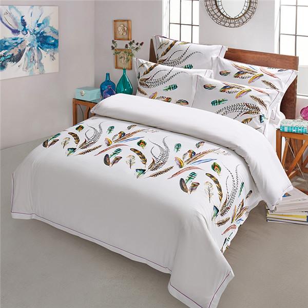 五星级酒店床上用放飞梦想品 四件套批发 60支全棉贡缎印花 放飞梦想