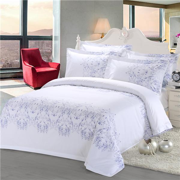 五星级酒店床上用品 四件套定做 60支全棉贡缎印花  梦幻空间