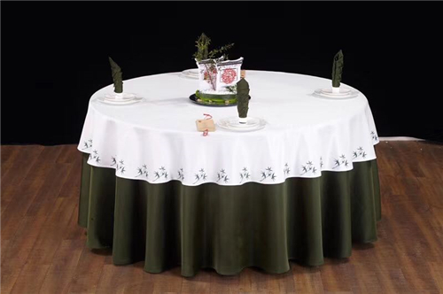 酒店桌布餐巾布草