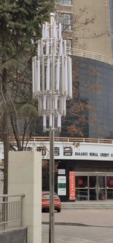 铜川新区农业银行不锈钢景观灯亮化工程