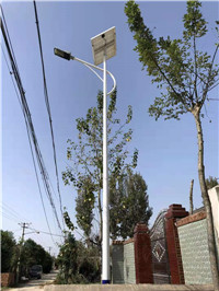 西安市周至县 侯家村  6米太阳能路灯亮化工程
