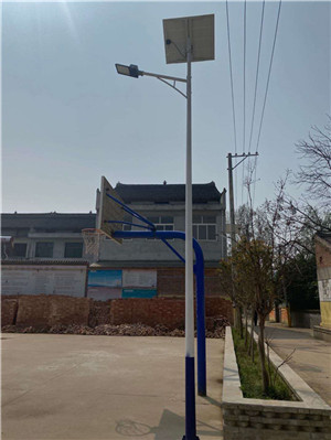 西安市周至县 四屯镇 辛庄村 6米太阳能路灯招标亮化工程