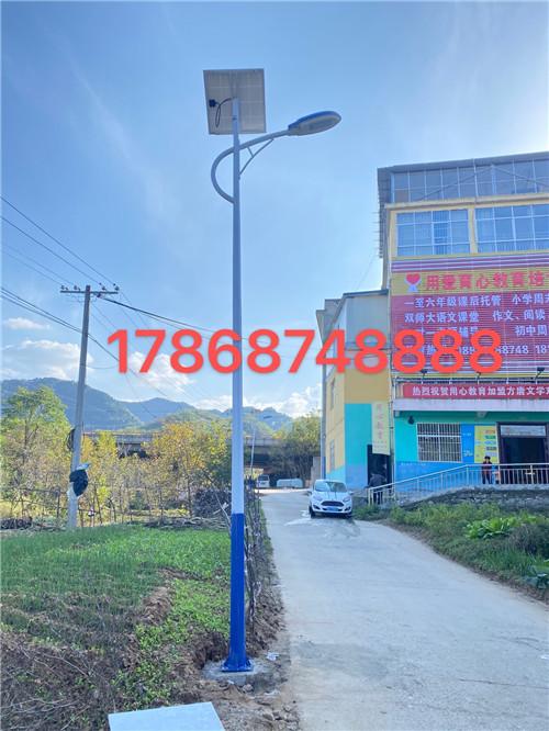 陕西省商洛市商州区谢源社区6米太阳能路灯亮化工程