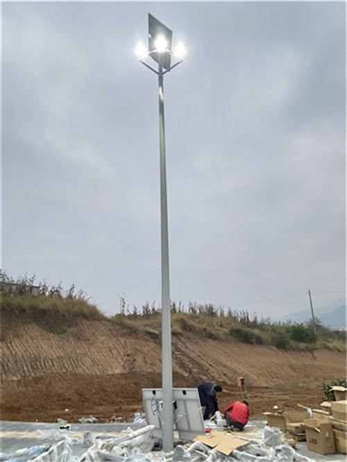 太阳能投光灯路灯安装工程