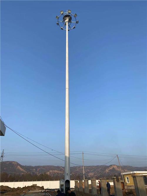 山西省运城市盐湖区 20米升降高杆广场灯施工案例