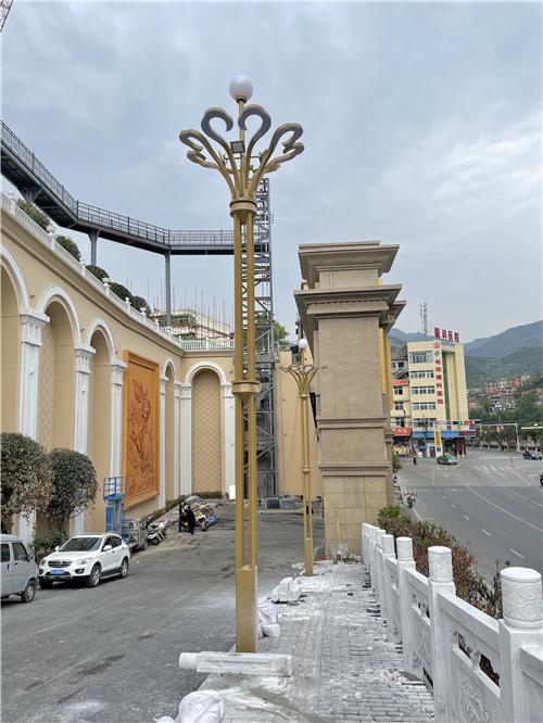 陕西省安康市旬阳县8米荷花玉兰灯销售安装工程