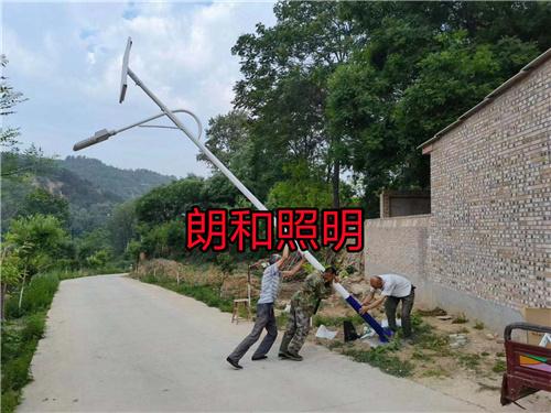 宝鸡市岐山县益店镇6米太阳能路灯亮化工程