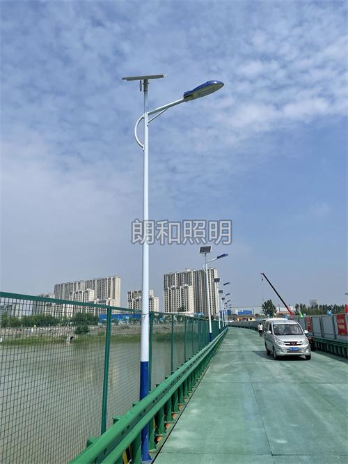 咸阳市秦都区河堤路6米太阳能路灯亮化工程