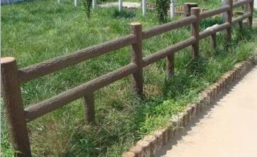 四川GRC仿木栏杆安装