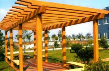 四川GRC仿木栏杆-四川公园案例展示
