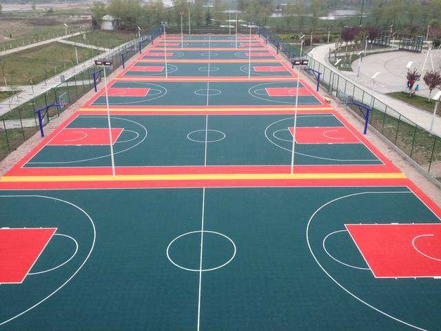 成都悬浮拼装地板篮球场