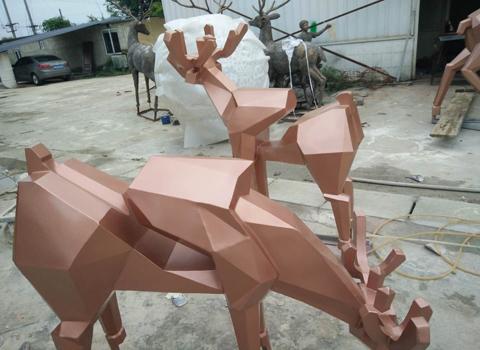 四川不锈钢雕塑(彩色)