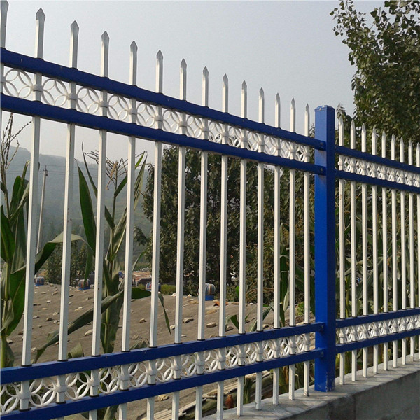 带花饰锌钢围墙护栏