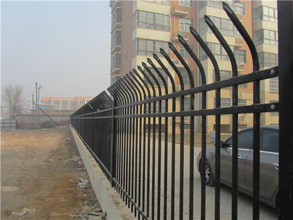 单弯头锌钢围墙护栏