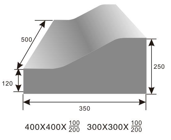 30x30x上10下20防撞路沿石模具