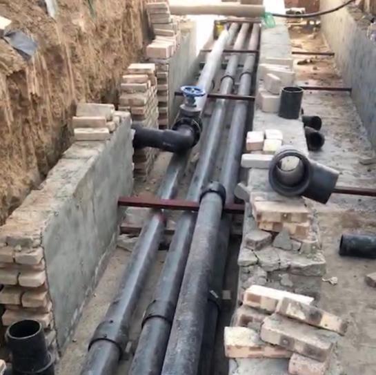 陕西PE给水管施工现场展示