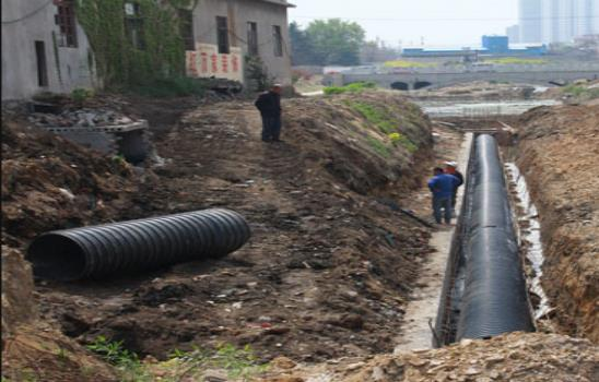 就陕西波纹排水管道的施工与金地项目合作