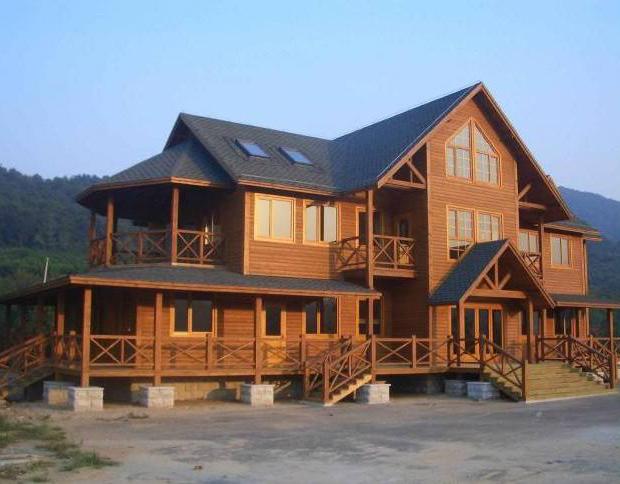 防腐木别墅建造