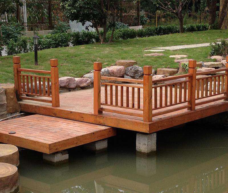 南阳市城市防腐木护栏建造效果展示