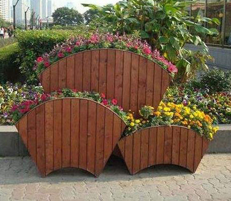 防腐木花盆