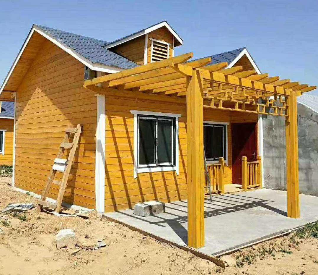 绿色环保防腐木 河南祥和木屋建设