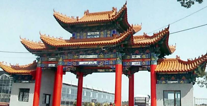 河南防腐木门楼设计