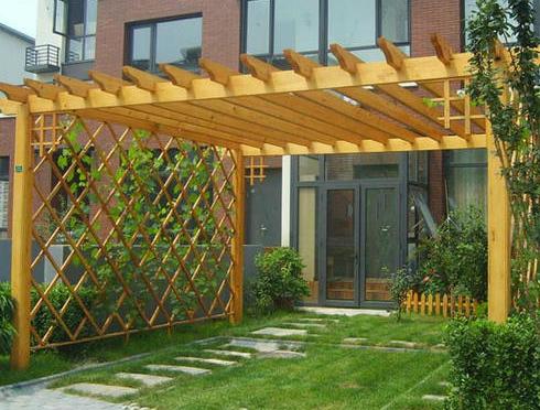 河南防腐木花架建造